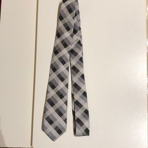 Ben Sherman tie black, grey, white plaid, gift